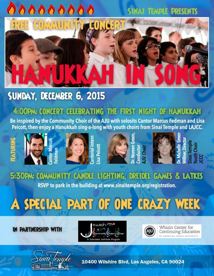 Chanukah In Song Flyer 2015