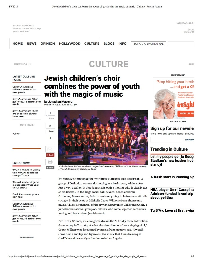 Jewish children's choir ...ulture | Jewish Journal.jpg